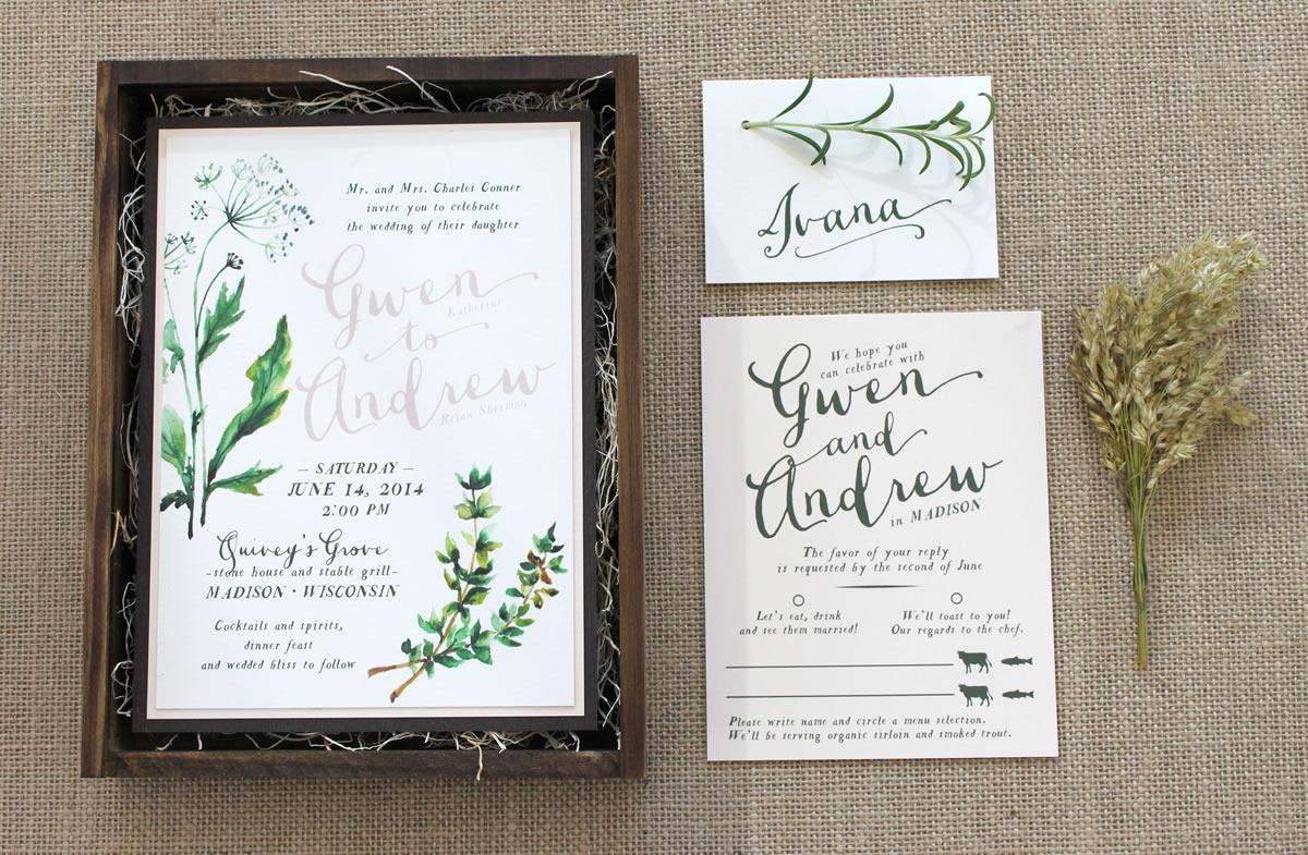 Madison, Wisconsin-based custom wedding invitation design, wedding ...